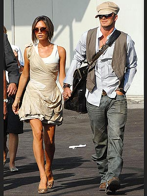 Representing the Brits the Beckhams in at no. 3
